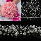 White or Ivory ABS Acrylic Pearl Garland Bridal Wedding Craft Decoration  Beads