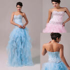 Homecoming Dress Bridal Bridesmaid Costume Cocktail Ballgown Evening Long Dress