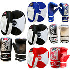 Rex Leather Hook and Jab / Boxing Bag Gloves / Mitts Kick Boxing Focus Pads Set