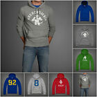 NEW ABERCROMBIE & FITCH MENS100% cotton  HOODIE TEE JAY RANGE SIZE S M L XL XXL