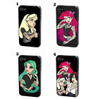 Disney Princess Tattoo Art Funny Punk Case Cover for iPhone 4 4S 5 5S 5C