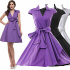 ❤FAST ❤New Women's Clothing Housewife Vintage/Retro 40s Rockabilly EVENING Dress