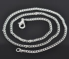 12 X SILVER PLATED LINK CHAIN NECKLACES LOBSTER CLASPS JEWELLERY MAKING CRAFT