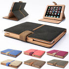 Suede Leather Rotating Smart Case Cover for iPad Air + Screen Protector + Stylus