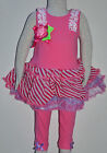 NEW Baby Girl Pink Flower Dress  Set Size 0000,000,00,0,1,2