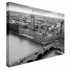 Black and White Aerial view London Canvas Art Cheap Wall Print Large Any Size