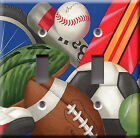 Light Switch Plate Cover - All sports - Football baseball soccer bicycle champ