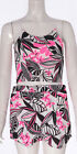 Crop Top and Skort Set Shorts Skirt Floral String New Ladies Fashion