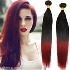 Brand New Fashion 50g Straight Red Ombre Human Hair Extensions 1B/BUG# Hot Sale