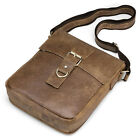 Men Soft Real Leather Messenger Shoulder Book Satchel Casual Vintage Tablet Bag