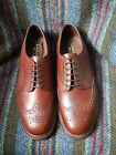 Loake Adams brown grain leather brogue Derby shoes width fitting F