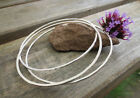 Set of 3 Sterling Silver Skinny Bangles