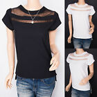 Free Necklace High Low Hem Short Sleeves Hippie Top Blouse