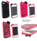 Cute Leopard Black/Pink Hello Kitty TPU Soft Case Back Cover gb**