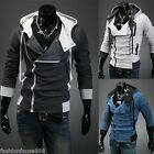 Assassin's Creed III 3 Desmond Double Collar Cosplay Costume Hoodie Coat Jacket