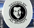 Aufkleber WC Deckel TESTED BY AL BUNDY, Toilettendeckel Sticker Klo Bad, 3C037