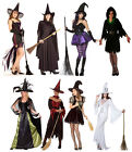 WOMENS LADIES SEXY WITCH HALLOWEEN FANCY DRESS WITCH COSTUME OUTFIT NEW