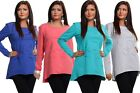 Womens Flower Design Unique Pattern Long Sleeve Color Jumpers Loose Top # 107