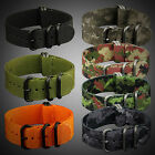 INFANTRY Military Watch Nylon Fabric Canvas Strap 5 Rings G10 Band Diver 22mm