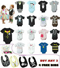 Babygrows Baby Boy & Girl Summer Vest, Good Quality Cotton (Buy 3 Get Free Bibs)