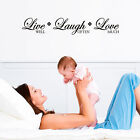 LIVE well, LAUGH often, LOVE much - Vinyl Wall Quote Decals