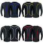 Mens Compression Shirt Base Layer Top Long Sleeves Gym Exercise Sports Shirt