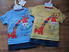 Baby Boys T.Shirt and Denim Shorts Set by Cheeky Chimp-6-12,12-18,18-23 months.