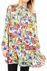 Hidden Fashion Womens Multi Colour Tropical Print Collared Shirt Dress/Top