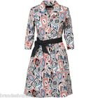 **BNWT** Fred Perry Womens Playing Card Printed Dress Porcelain RRP £119.99
