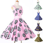 ♥FREE SHIPPING♥ Halter Rockabilly Vintage 1950s Carnival Retro Party Prom Dress