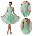 HOT SALE ! Women V-NECK Evening Prom Gown Ball Short  Formal Dance Party Dresses