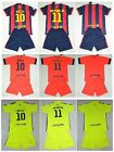 new 2014-2015  BARCELONA football kit 3-14 years print MESSI NEYMAR or own name