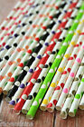 25pc Paper Straws BIG DOTS cute colorful vintage retro style kawaii partyware