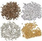 Latest 500/3000Pcs Silver/Golden/Nickel/Copper Plated Round Spacer Beads 2mm