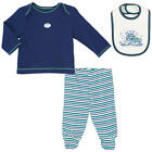 Little Me Boys 3 Piece Navy/Green MVP Layette Set with Long Sleeve Lap Shoulder
