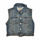 New Look Ex Chainstore Sleeveless Cropped Denim Jacket Size's 6 8 10 12 14 16 18