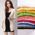 Casual Women Long Sleeve Knitwear Cardigan Shirt Coat Sweater Jumper Outwear New