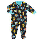 Little Me Boys Monster Motorcycle Print Polyester Zip Up 1 Piece Footed Pajama