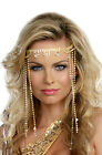 Goddess Queen Shimmer Rhinestone Headpiece Costume Accessory