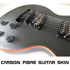 Black Carbon Fibre Vinyl Skin Wrap for Electric Guitar Air Lease Sticker DIY