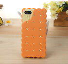 3D Cute Cookie Sandwich Biscuit Soft Silicone Cover Case For Iphone 4 4S 5 5S