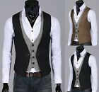 Mens Stylish Double layered Button Chained VEST 2 color, M-XXL size-uk MO