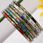"Handmade Cloisonne Enamel Lucky Charm Bangle Bracelet 7.5""L More Colors Options"