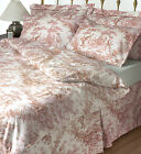 Toile De Jouy Duvet Covers 100% Cotton - Pink Or Blue - Various Sizes Le Chateau