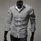 VTG Retro Style Sexy Men Long Sleeve Party Tops Formal Shirt Casual Dress Shirts