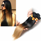 "50g Ombre color 1b/27# Brazilian 10""30""Straight human hair Extensions weave"