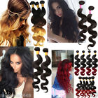 1Bundle Brazilian Ombre Human Hair Natural Black Body Wave Ombre hair US local