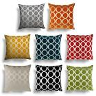 "Set of 4 Oh Chenille Cushion Covers 6 Fantastic Colours 18"" & 22"""