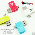 USB 2.0 Micro USB OTG Multi Card Reader Writer Cable TF MS Micro SD