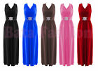 Womens Ladies Plus Big Size Long Evening Buckle Maxi Cocktail Prom Party Dress